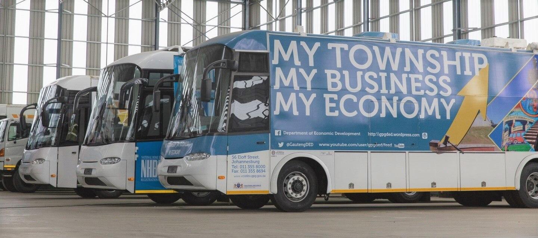 Gauteng Economic Development buses