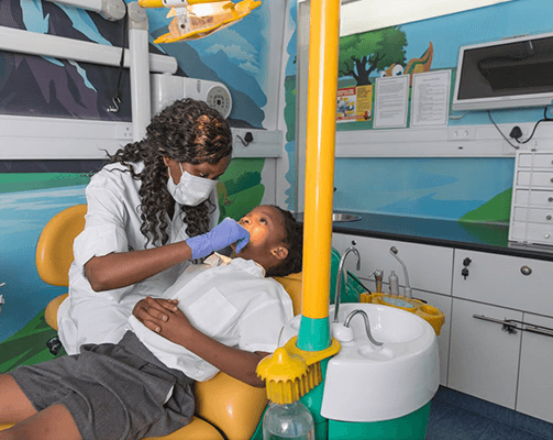 Dentistry section on mobile clinic